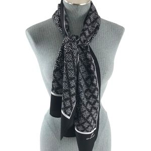 Adrianna Papell Accessories - Adrianna Papell Oblong Black and White Scarf